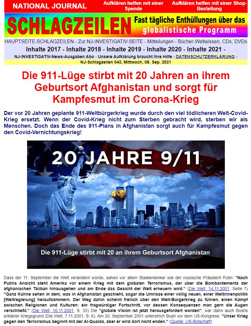 NJ-Schlagzeilen vom 08. September 2021